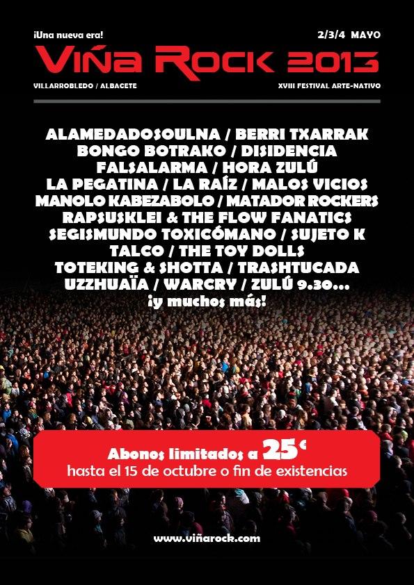 Primer cartel del Viña Rock 2013