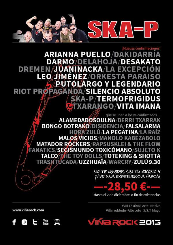 Nuevas confirmaciones Viña Rock 2013