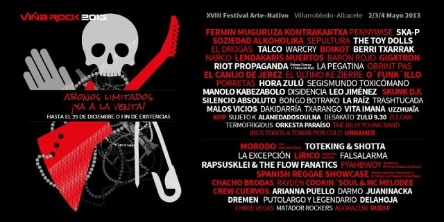 Cartel definitivo Viña Rock 2013