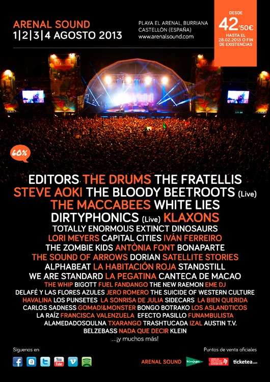 Cartel Arenal Sound 2013