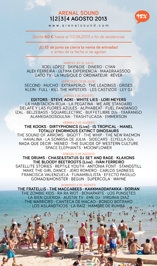Cartel al 95% Arenal Sound