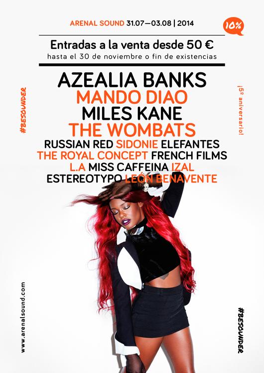 Cartel primeras confirmaciones Arenal Sound 2014